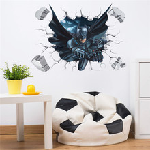 Batman Spiderman 3D Effect Wall Sticker Home Decor