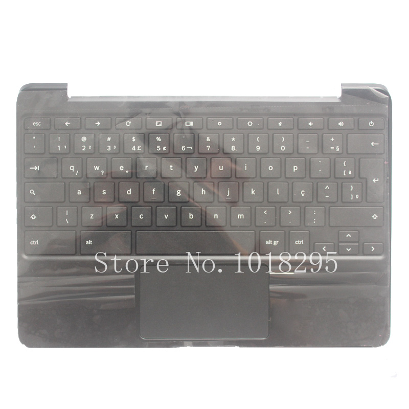 NEW Brazil Laptop Palmrest With Keyboard For SAMSUNG Chromebook XE500C13 BR Laptop Keyboard