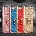 Silicone Case For Apple iPhone 5 5S SE 6 s 6 s плюс 3D Алмазный Цветок Силикона Coque Обложка Подставка Для iPhone случаях