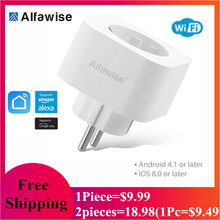 Alfawise PE1004T Smart Plug Mini WiFi enchufe UE funciona con Amazon Alexa Google Home APP Control remoto energía monitor(China)