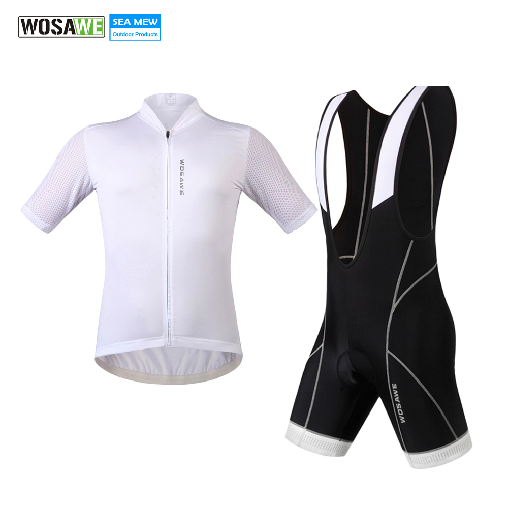 все цены на WOSAWE 2017 Cycling jersey set summer jersey mtb Shirt Breathable Cycling Bib Shorts downhill maillot ciclismo Bike Jersey Suits онлайн