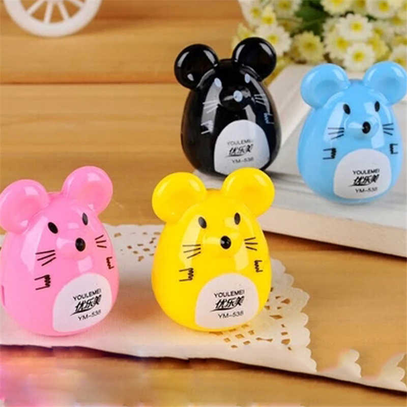 S-0011 factory direct shipping Korea cute little mouse shape student pencil sharpener pencil sharpener  Stationery office