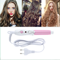 Mini Portable Electric Hair Curler Personal Hair Styling Tools Thermostatic Wavy Tourmaline ceramic Curling Iron EU PLUG