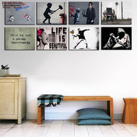 DPARTISAN Posters And Prints Wall Art Canvas Painting Wall Pictures Big Sizes Banksy Arts Picture Decoration