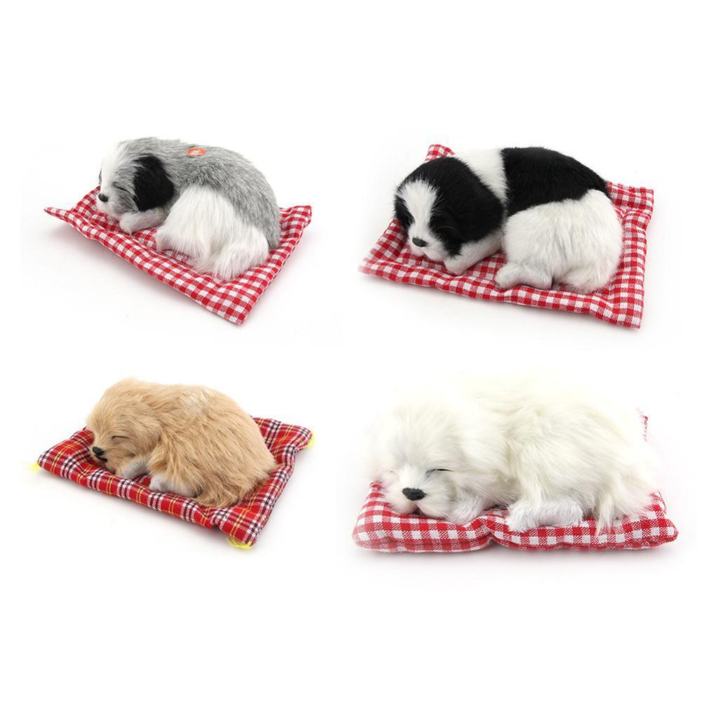 Simulation Animal Bed Dog Pet Birthday Gift Sleepping Dog Electronic Pet Children's Cognitive Toys Drop Shipping