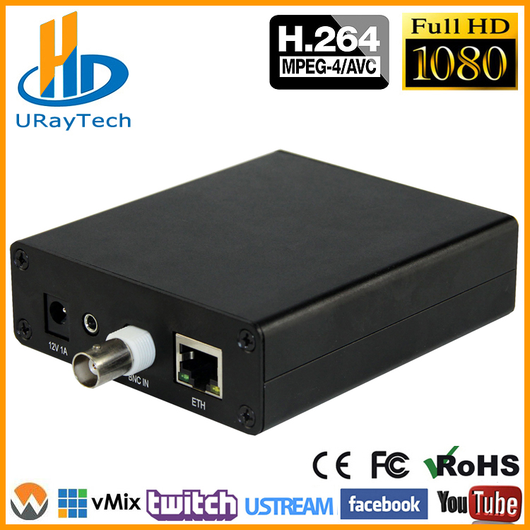 MPEG4 H.264 SD Analogique Vidéo Encodeur Audio CVBS AV RCA À IP Streaming Codeur IPTV Codeur H264 Avec RTMP HLS ONVIF HTTP RTSP
