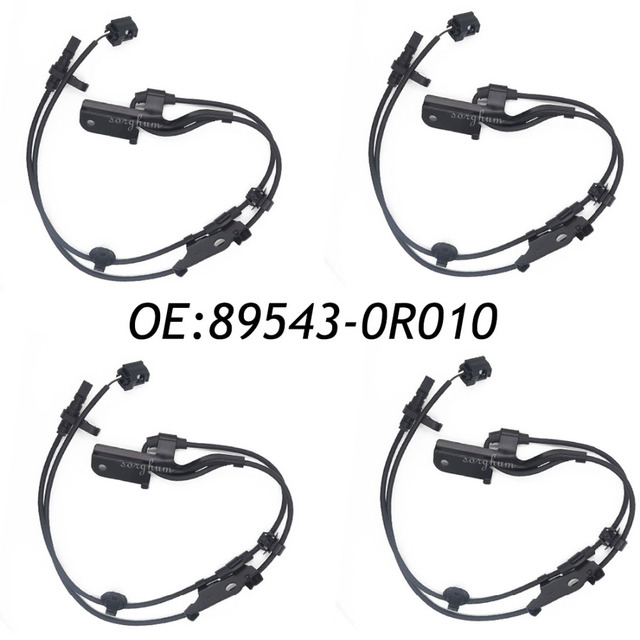 Aliexpress Com Buy 4pcs 89543 0r010 Abs Wheel Speed Sensor For