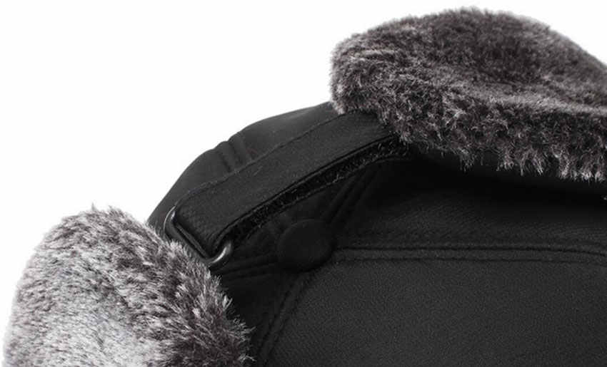 beef483653258 ... Mens Winter Hats Ear Flaps Bomber Hats With Brim And Face Mask Warm Hat  For Men ...