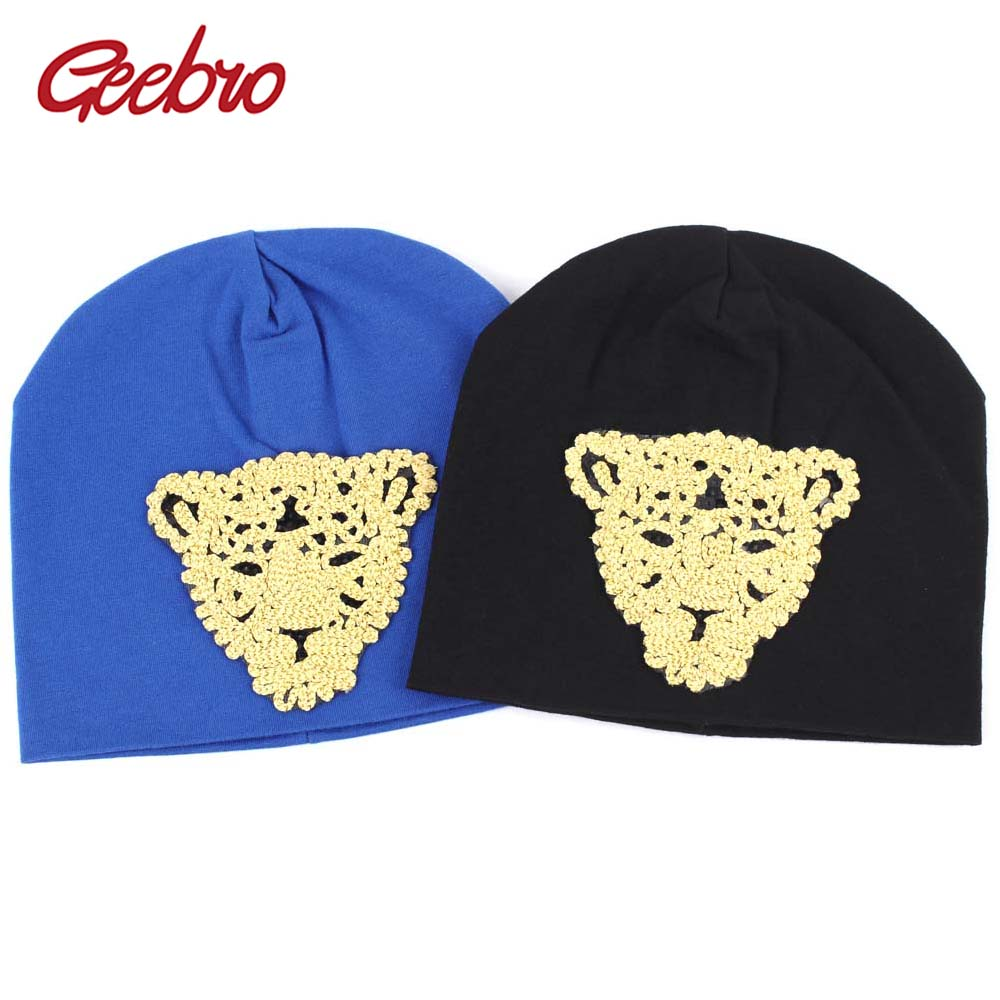 Geebro Newborn Cotton   Beanie   Hat 2019 Spring Leopard Embroidery Slouchy   Beanies   for Boys and Girls DIY   Skullies  &  Beanies   for Kids