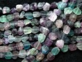 Free shipping (2 strands/set) natural charms 10-15*10-15mm colorful fluorite Rough freeform beads stone wholesale