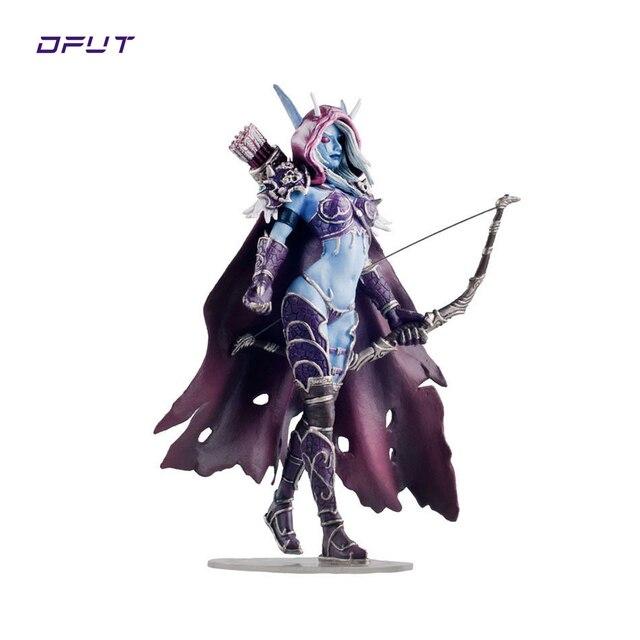 Nuevo Modelo de figura de acción de 17 CM WOW syvanas Windrunner con arco queen PVC con la colección Base de regalos de cumpleaños de niño de juguete Dota 2