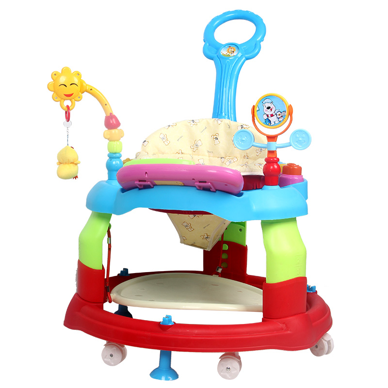 The infant child baby walkers rollover prevention multi-function music toy car