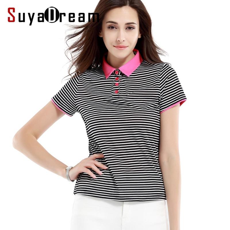 Women shirt 100 Real silk Striped Short sleeve summer T shirt Comfortable silk bottoming shirt 2017