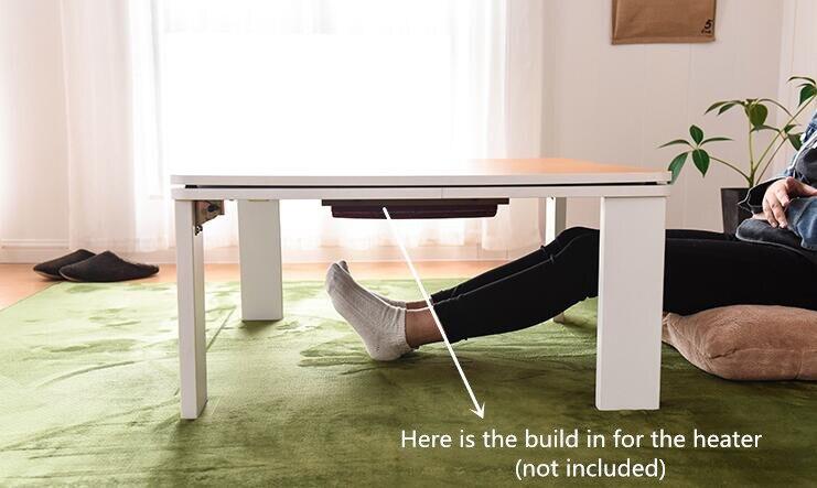 € 195.65 5% de réduction|Pliage Kotatsu Table Top Réversible Blanc/Jaune  Style Japonais Table Basse Jambes Pliable Salon Meubles Table Basse dans ...