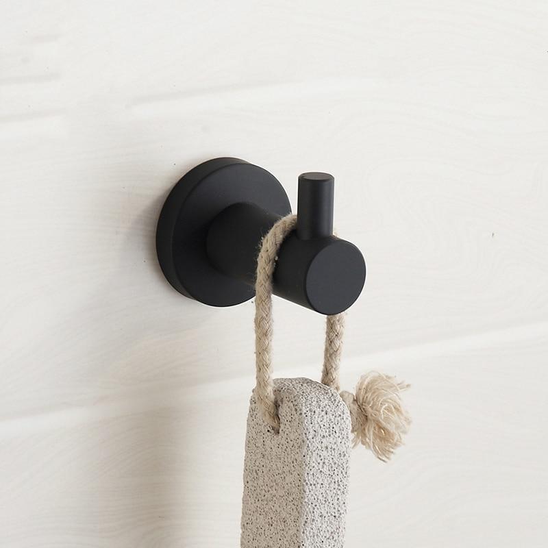 nueva moderna pintura de caucho negro simple ropa gancho gancho de la toalla percha accesorios de