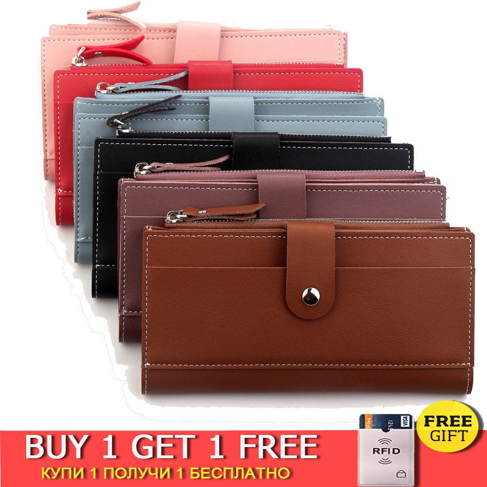 Women's Wallet Ladies Wallet Long Female Hasp & Zipper Portfel PU Leather Purses Card Holder Ladies Porte Feuille Femme 2019 New
