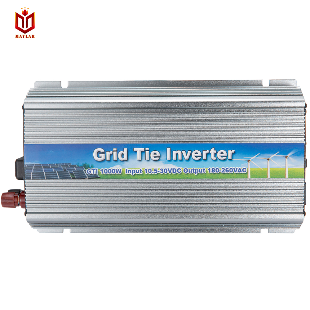 MAYLAR@ 22-50V 4PCS 1000W Pure Sine Wave Solar Grid Tie Inverter, Output 180-260V.50hz/60hz with MTTP function solar micro inverters ip65 waterproof dc22 50v input to ac output 80 160v 180 260v 300w