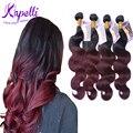 8A Ombre Brazilian hair Human Hair Wave Bundles Brazilian Virgin Hair Ombre Hair Extensions Brazilian ombre Body Wave 1B/99J