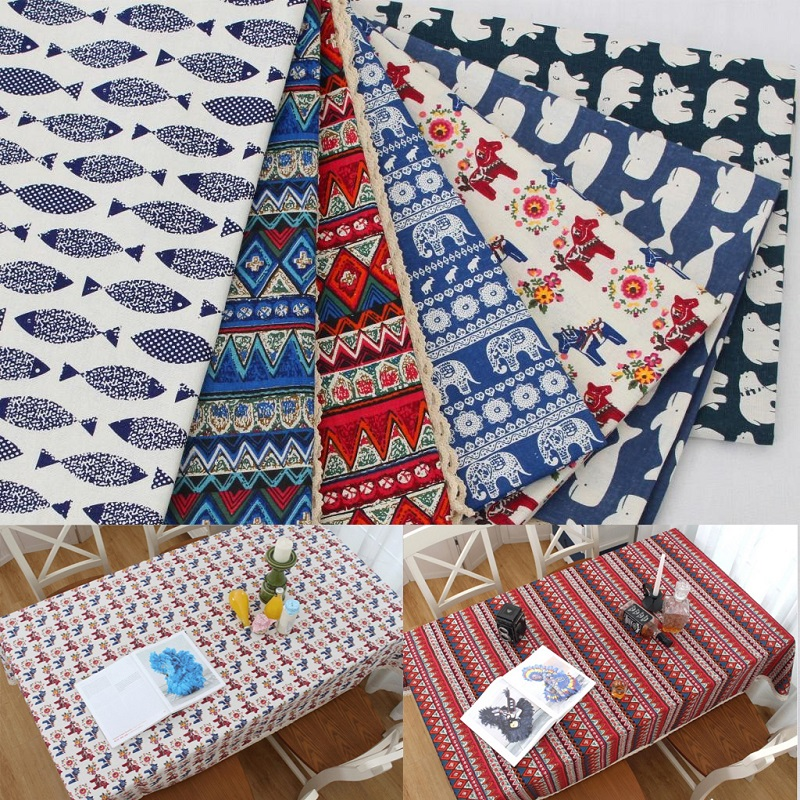 Cloth Cotton and Linen Cloth Southeast Bohemian Pastoral Literary Table Cloth Round Tea Tablecloth for Party