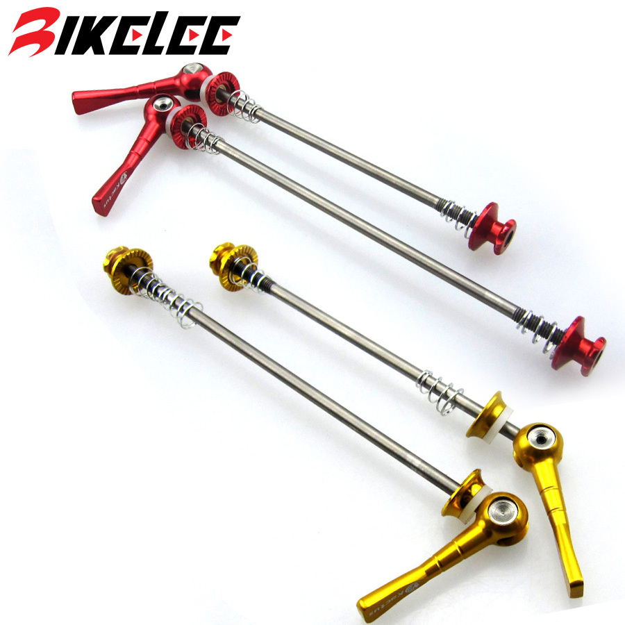 Hot 48g/pair Quick Release Bicycle Titanium Skewers MTB Road Quick Locking Wheel Bike Front 100 Rear 130/135 Mm Cycling Parts