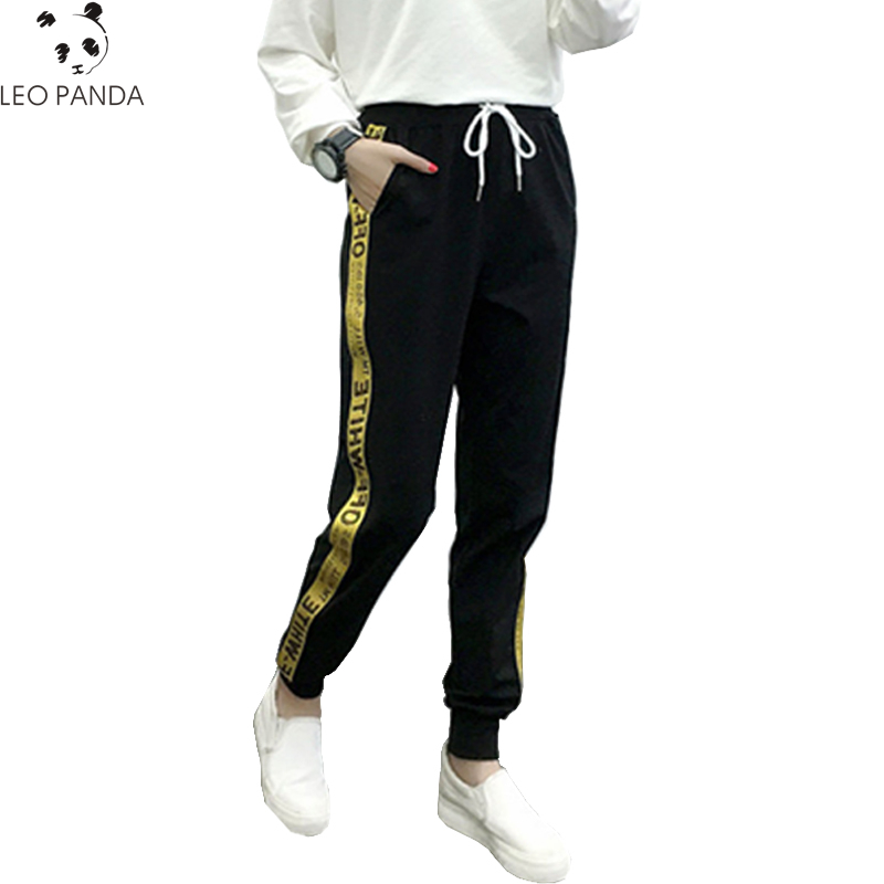 5af110d6481 2019 New Spring Summer Pant Women Fashion Letter Printed Sporting Leggings  Elastic Casual Pants Female Loose