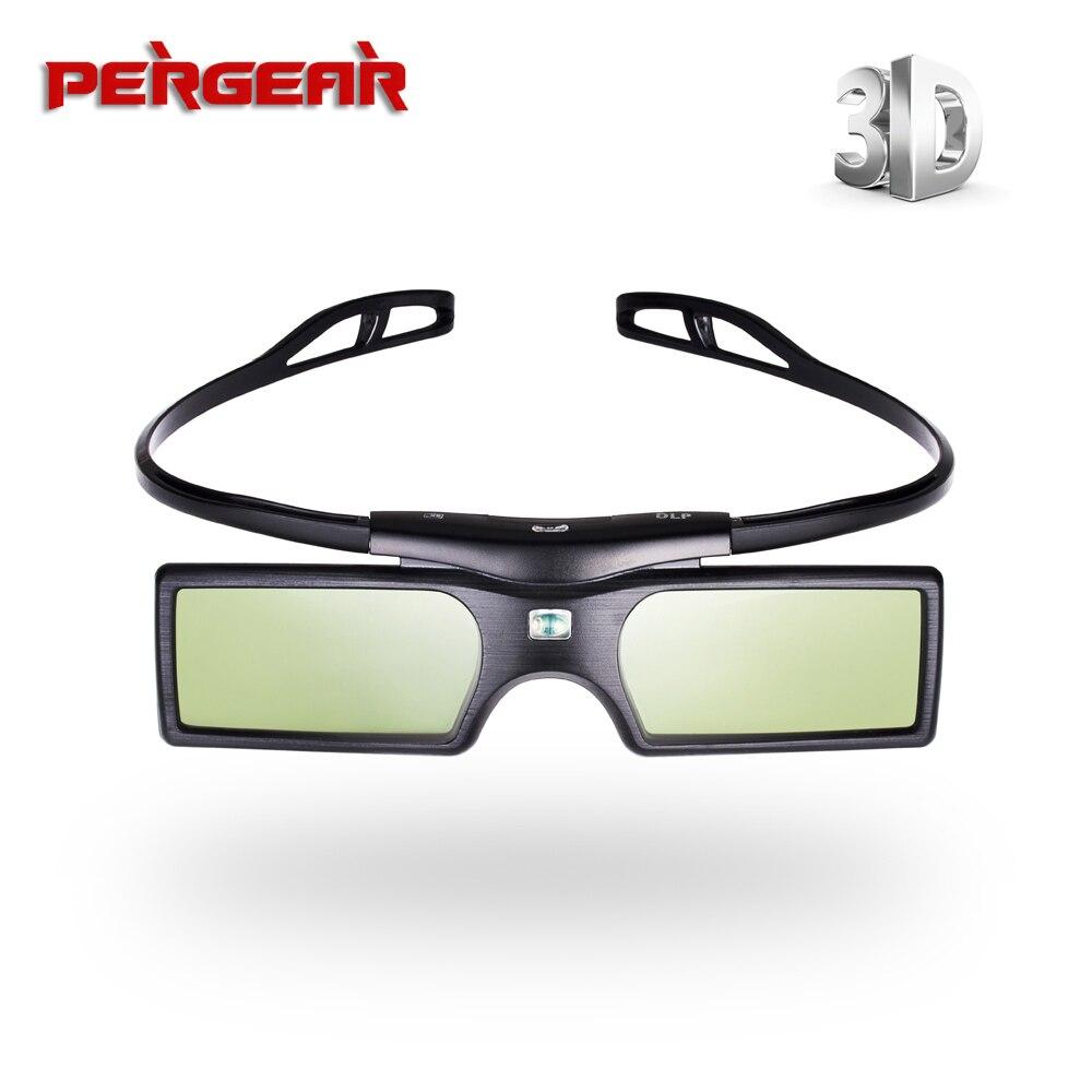 Pergear G15 <font><b>DLP</b></font> <font><b>Link</b></font> 3D <font><b>Active</b></font> <font><b>Shutter</b></font> <font><b>Glasses</b></font> for Sharp LG Optoma NEC Acer Dell Vivitek BenQ Mitsubishi <font><b>DLP</b></font>-<font><b>LINK</b></font> Projector