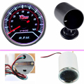 "EE support  Car Universal Smoke Len 2"" 52mm Tacho Tachometer Gauge Meter + 52mm Black Pod  XY01"