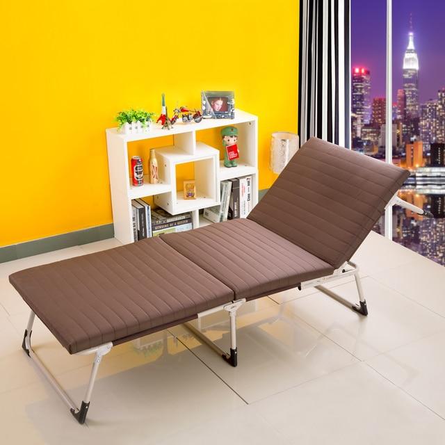 Высокое качество мягкий удобный раскладной односпальной кроватью губка простой офис сон кровать кормящих кровать