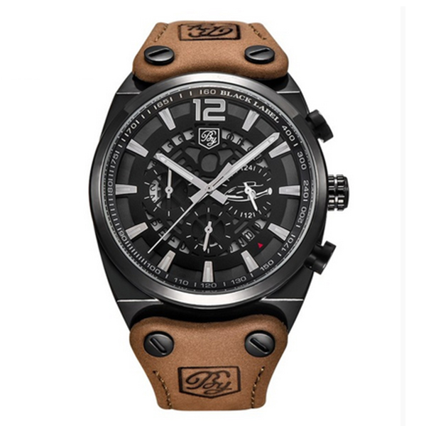 BENYAR Sport Men Watches Quartz Man Outdoor Big Dial Watch Male Clock Male black white