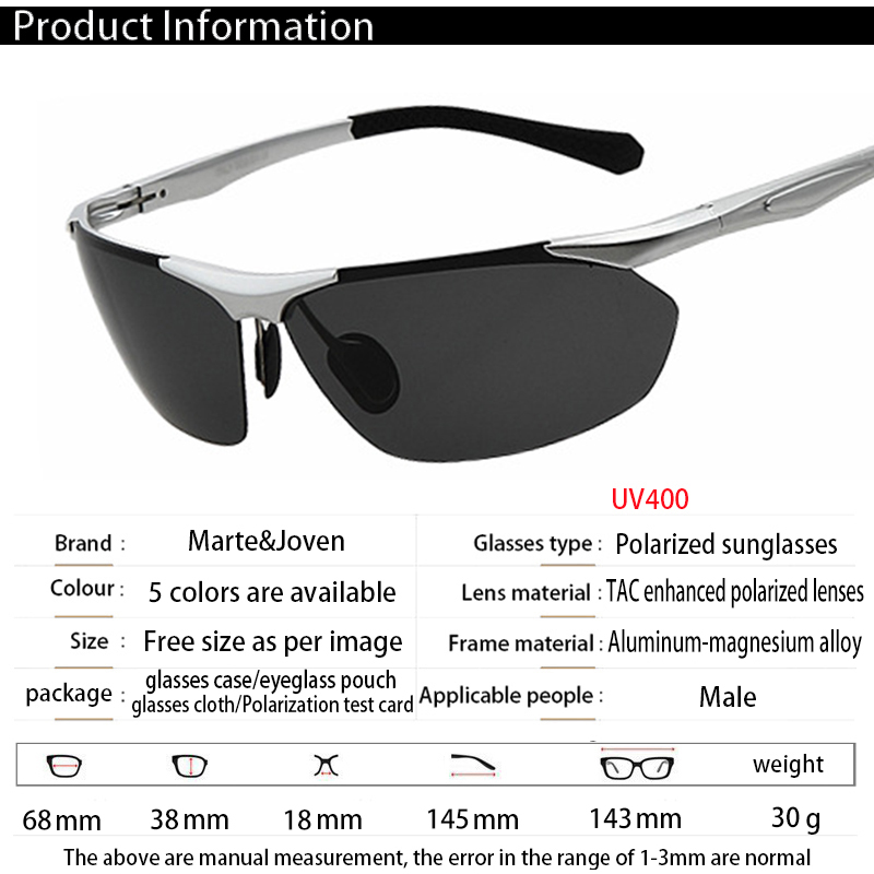 7f5bf31aa6  Marte Joven  High Quality Aluminum magnesium Alloy Men Polarized Gold  Sunglasses Male Casual Travel Anti Glare Driving Eyewears-in Sunglasses  from Apparel ...