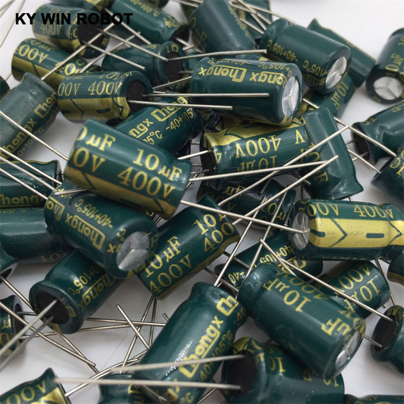400V 10UF 10*17 High Frequency Low Impedance Aluminum Electrolytic Capacitor 10uf 400v