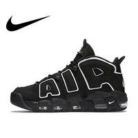 Оригинальные аутентичные Nike Max Air более Uptempo для мужчин дышащие баскетбольные кеды спортивные спортивная обувь Уличная обувь