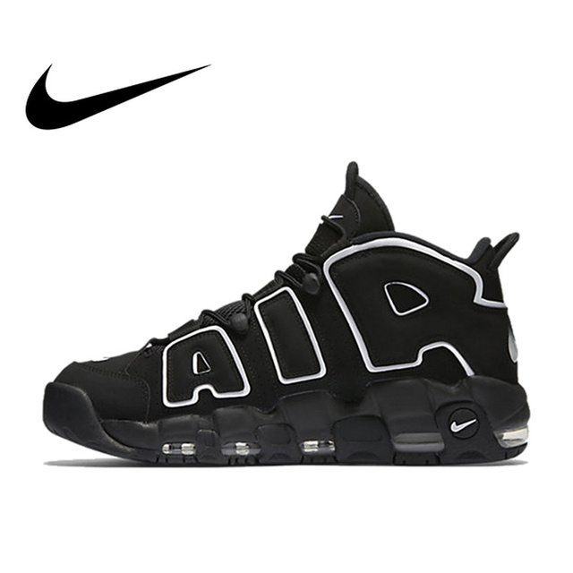 884f17de0f3c Original Authentic Nike Max Air More Uptempo Men s Breathable Basketball  Shoes Sports Sneakers Outdoor Medium Cut