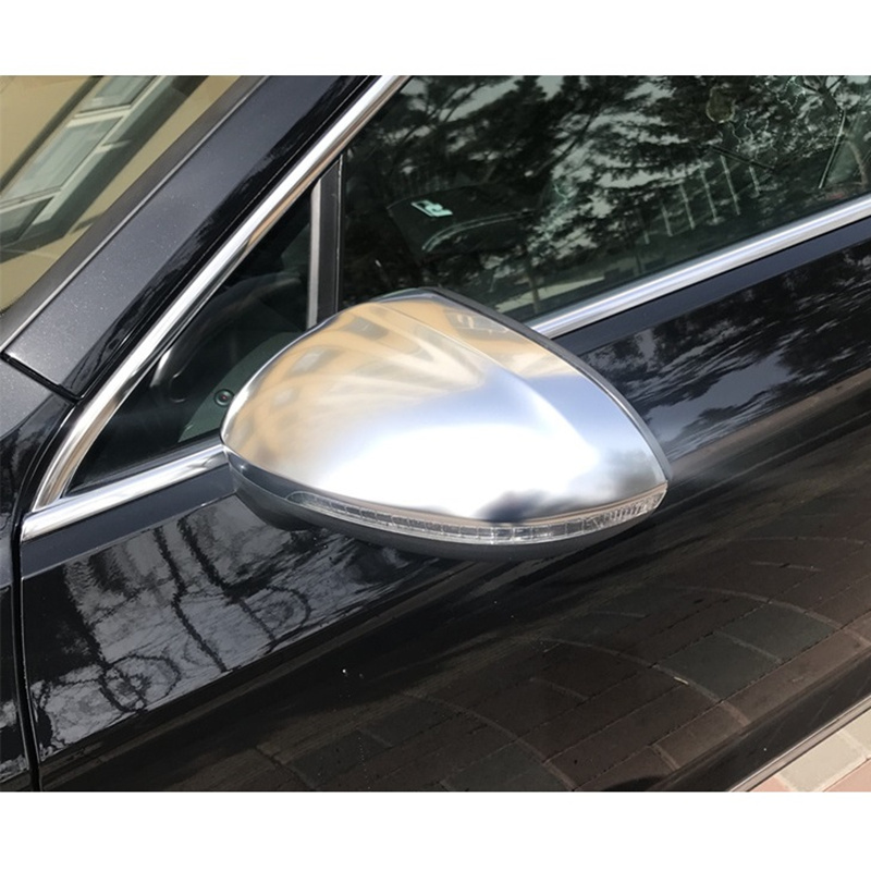 For Volkswagen Passat Arteon B8 Variant Alltrack Matt Chromed Side Door Rear View Wing Mirror Cover