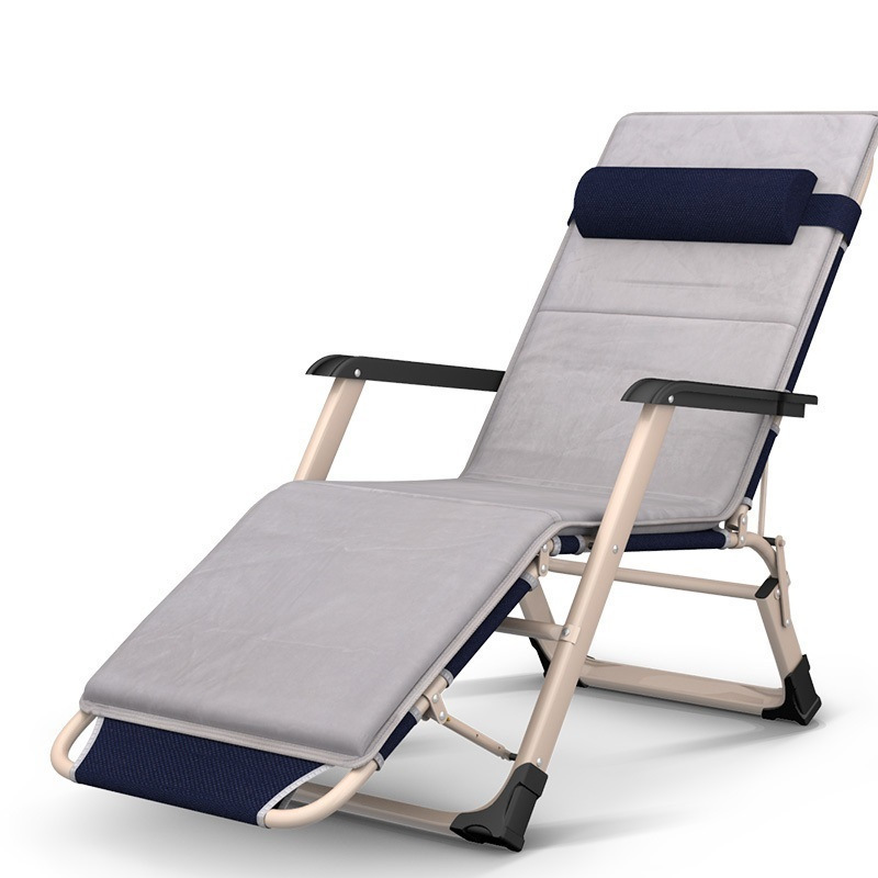 ZJ Enjoy fun of widening the single lunch office nap March simple beach bed folding cr Chaise Lounge beauty rest folding office cr nap lying simple beach bed chaise lounge