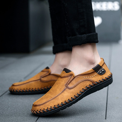 2019 Spring Casual Shoes Men Fashion Loafers Men Casual Driving Shoes Soft Moccasins Flats Slip on Footwear Men Big Size