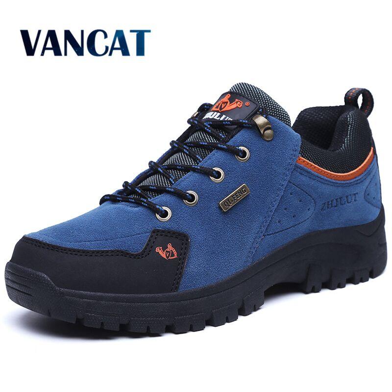 VANCAT Men Boots Winter With Fur 2017 Warm Snow Boots Men Winter Boots Work Shoes Men Footwear Fashion Rubber Ankle Shoes 36-47