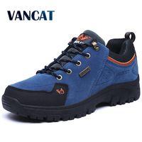 VANCAT Men Boots Winter With Fur 2017 Warm Snow Boots Men Winter Boots Work Shoes Men Footwear Fashion Rubber Ankle Shoes 36 47