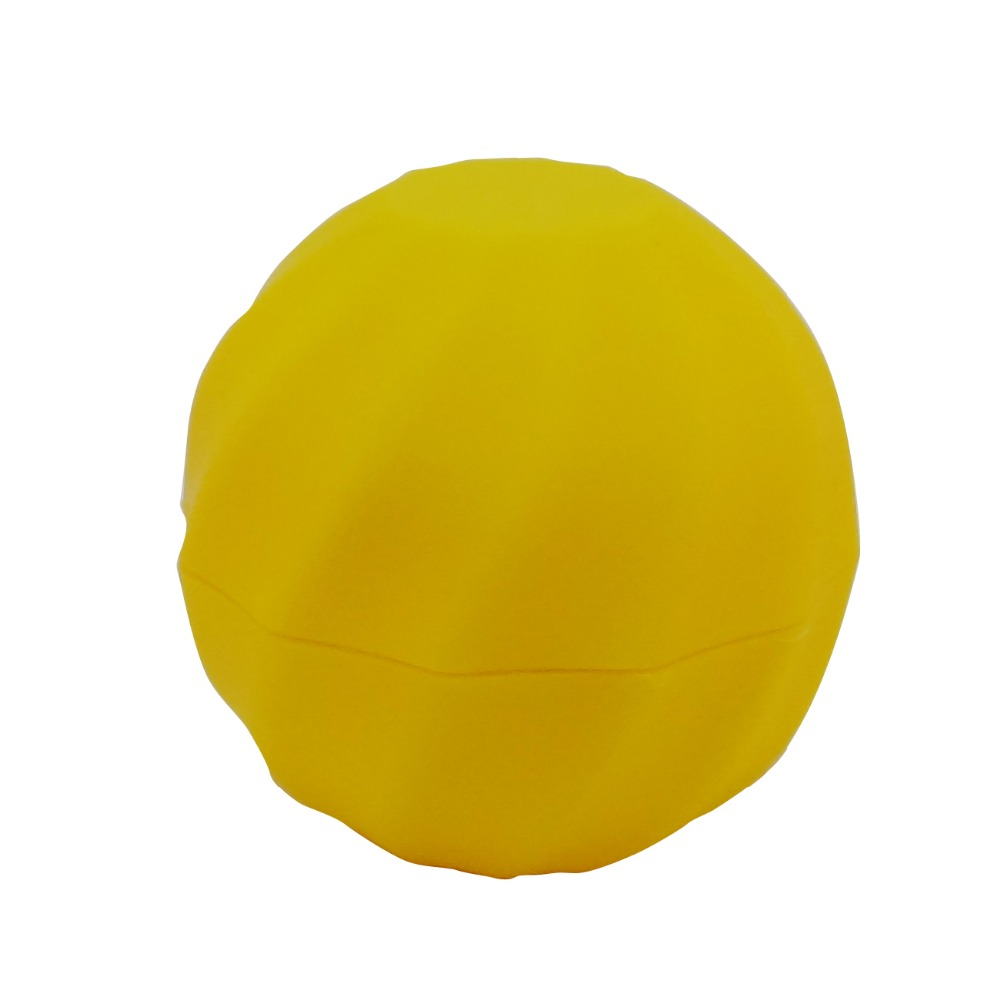 Ball Shaped Yellow Color Make Up Case Cosmetic Lip Balm Gloss Container New(A689B-Yellow=2pcs) 4pcs new for ball uff bes m18mg noc80b s04g