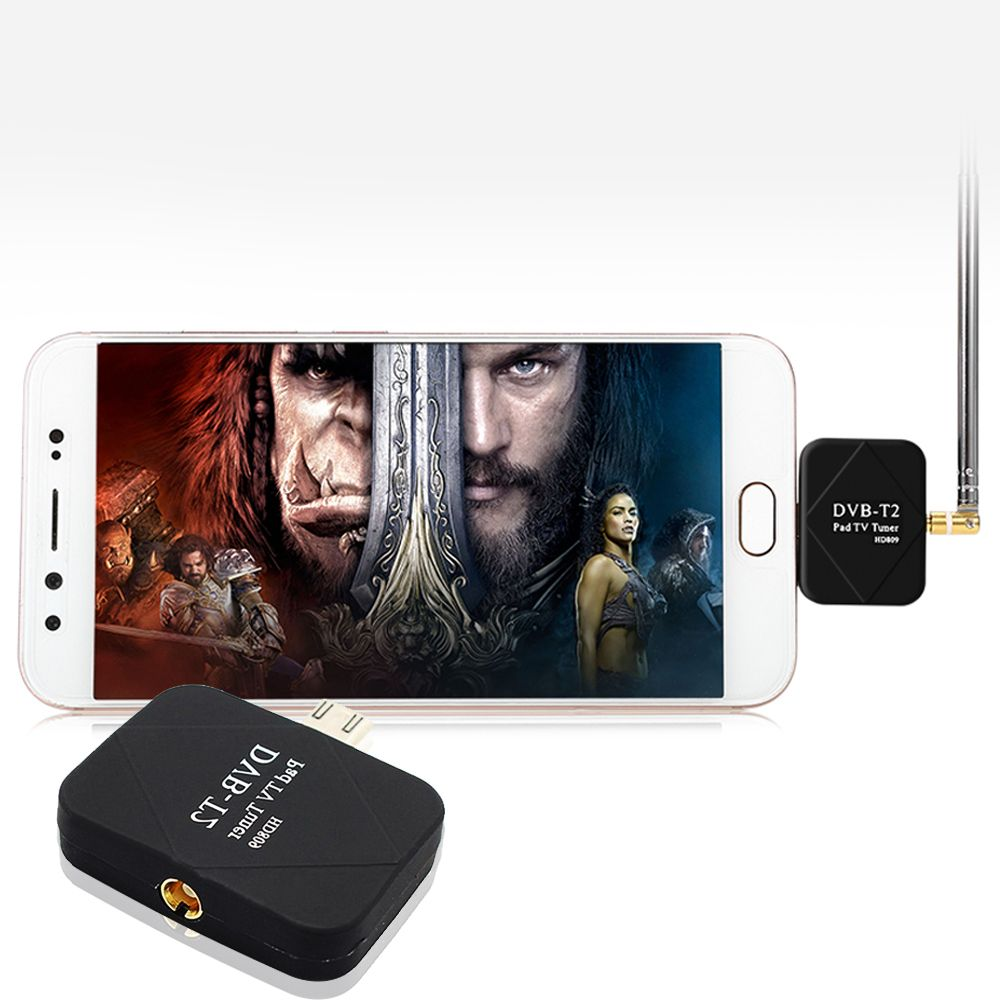 Portable USB DVB-T/T2 TV Tuner Stick Dongle Receiver for Android Smartphone цена 2017