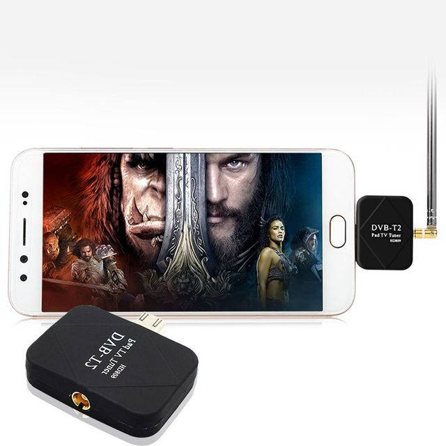 Portable USB DVB-T/T2 TV Tuner Stick Dongle Receiver for Android Smartphone