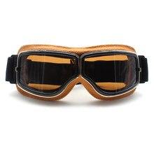 Roaopp Retro Óculos de Proteção Da Motocicleta Óculos Vintage Aviator Pilot  Cruiser ATV Da Bicicleta Da a4b675ca8a