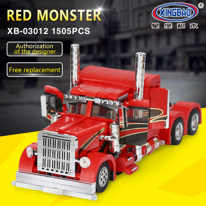 XingBao 03012 Genuine Technic MOC Series The Red Monster Set Children Educational Building Blocks Bricks legoing Toys Model Gift 2017 new 10680 2324pcs pirate ship series the slient mary set children educational building blocks model bricks toys gift 71042