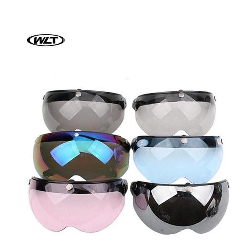 Hot sale 3 snap vintage helmet visor motorcycle helmet bubble shield sun visor glasses open face helmet visors