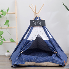 JORMEL Pet Teepee Tent Dog Cat Toy House Portable Washable Pet Bed Star Pattern Not Contain Mat Dog Bed