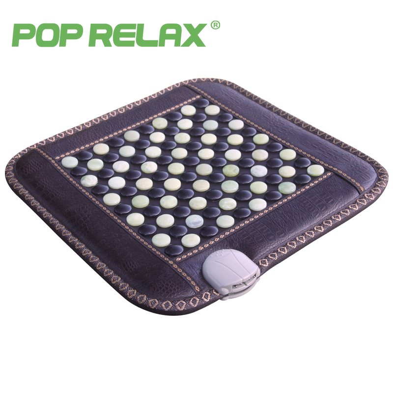 POP RELAX healthy mattress tourmaline jade germanium ion far infrared heating therapy stone massage mat thermal sitting mattress
