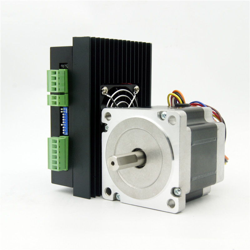 8 lead NEMA34 Jingbo stepper motor J86HB80-04 643oz-in shaft diameter 12.7mm and Driver JB860M AC18-80V/DC24-110V 6.0A 256Micro a plastino and c sarris information theory and semi quantum maxent