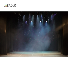 Laeacco Light Stage Backdrop Bling Bokeh Portrait Photography Backgrounds Customized Photographic Backdrops For Photo Studio