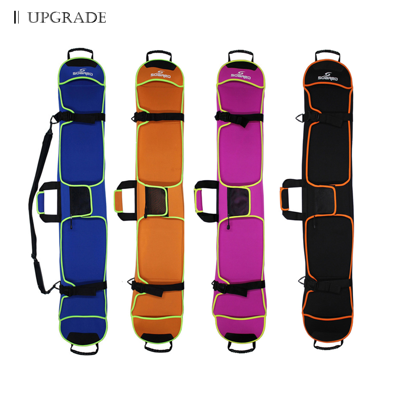 135-155 cm Snowboard Skis Sac Unique sac de Monoboard Anti-rayures Plaque De Protection Cas Multi-couleur En Option double D'épaule