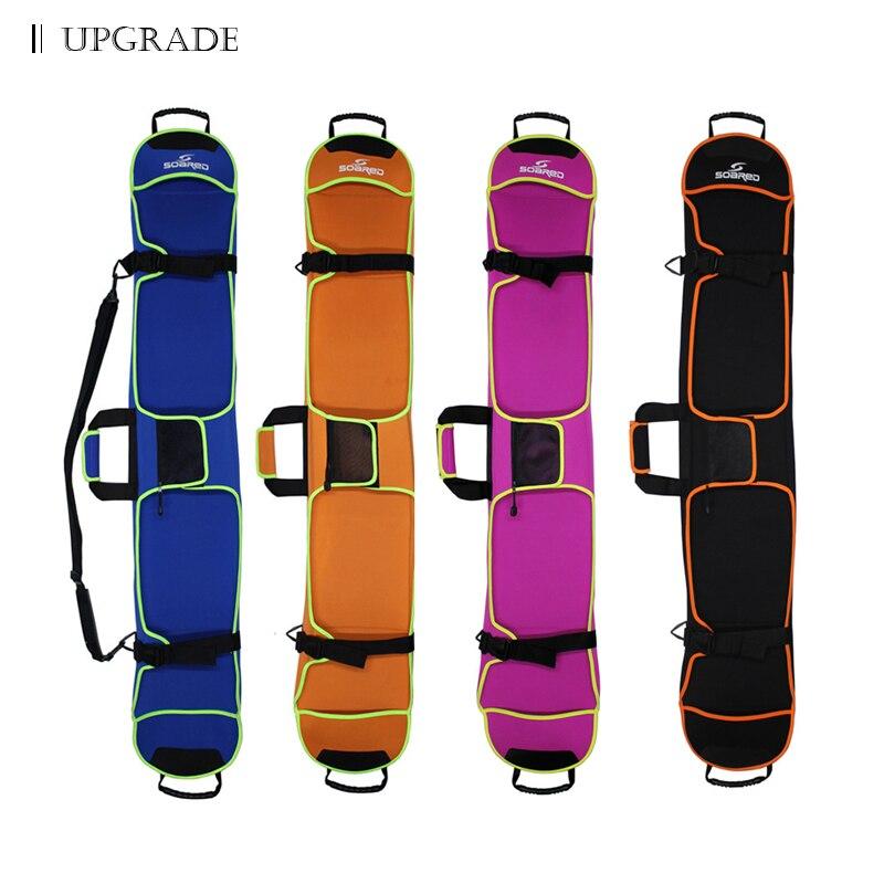 Sac de ski de Snowboard 135-155 cm sac simple plaque Monoboard résistant aux rayures étui de protection multicolore en option Double épaule